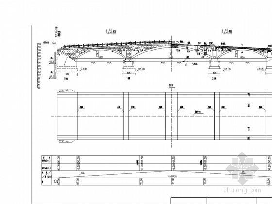 3孔(15.5+25+15.5米)圆弧线钢筋混凝土板拱桥施工图35张
