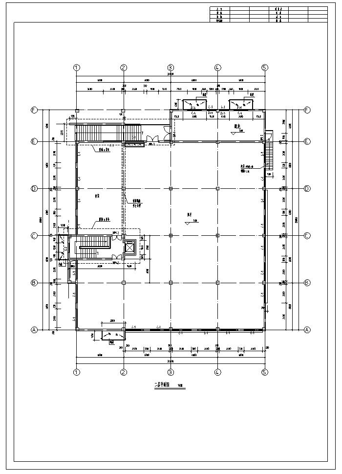 某生态园餐厅室内设计平面施工图(10张)
