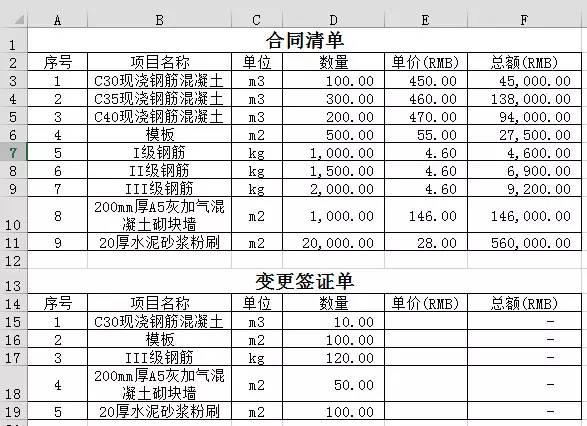 工程造价中12个简单的Excel应用技巧_5
