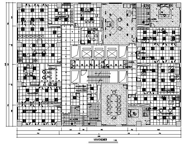 北方投资集团办公空间设计施工图(附效果图)