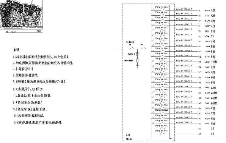 [上海]金地格林春岸全套景观设计施工图(水电CAD)