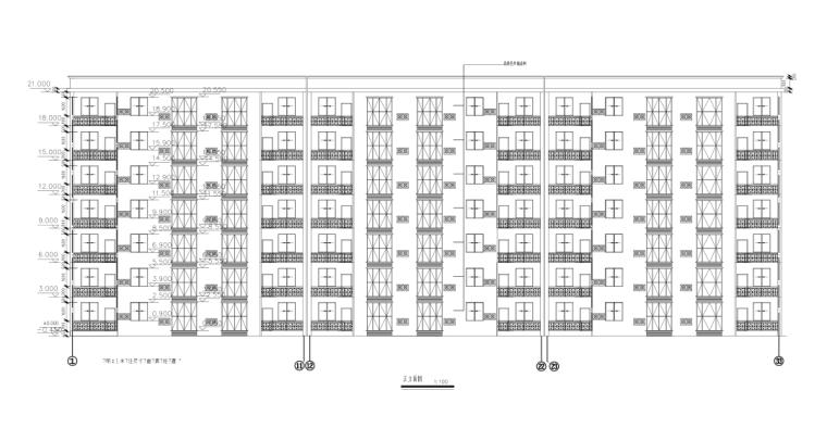 七层框架结构住宅楼毕业设计(含计算书、建筑、结构图)