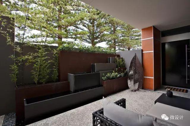 各式各样的庭院景观墙,美_37