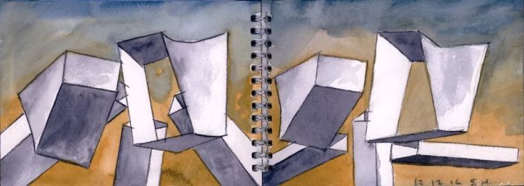 斯蒂文·霍尔在中国的首个作品展,向我们摊开了他个人的手绘本_21