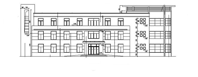 现代多层会所建筑设计方案施工图CAD