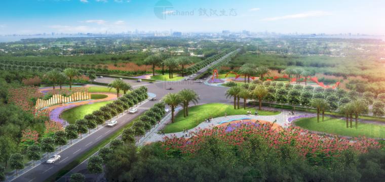 [广东]湛江海东快线概念景观设计(PDF+55页)-整体鸟瞰