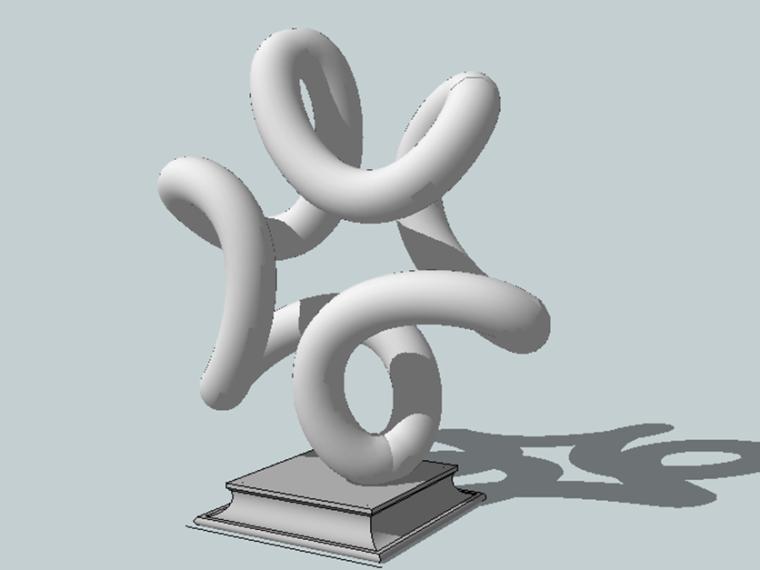 景观雕塑欧式组件su模型