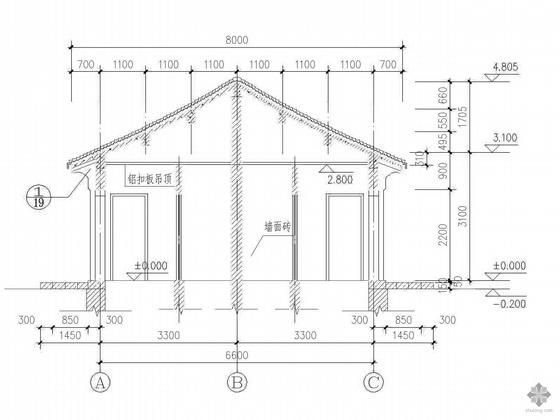 [合集]20套建筑小品——公厕建筑施工图及方案文本_4