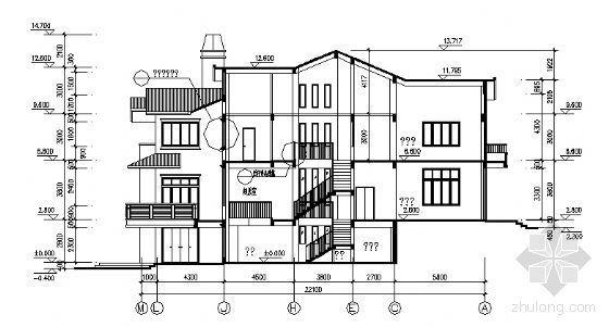 某三层别墅建筑方案图-2