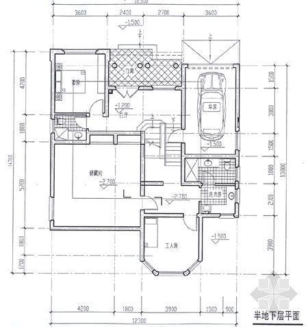 某别墅平面图及效果图2