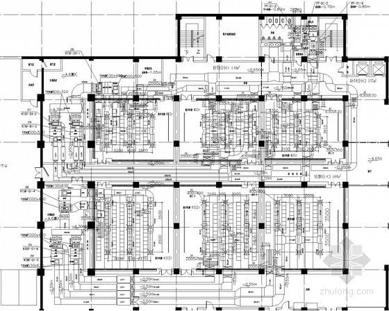 [湖南]商业综合体建筑空调通风防排烟系统设计施工图(建筑形式多 含人防设计)