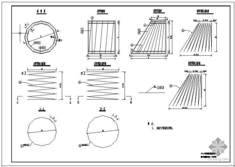 直径1米圆管涵及倒虹吸设计图