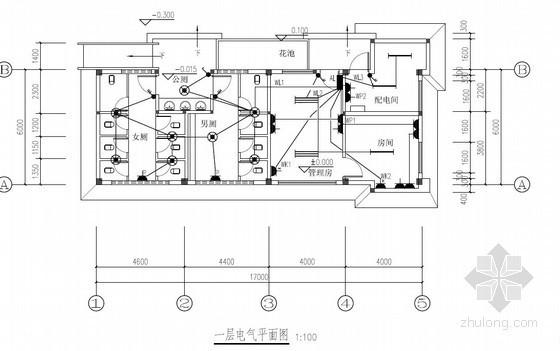 [广东]2013年某运动中心公厕项目安装工程量清单预算及图纸(电气+给排水+防雷)