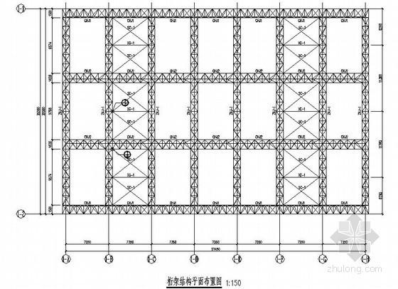 35米跨拱形生态中庭钢结构设计图