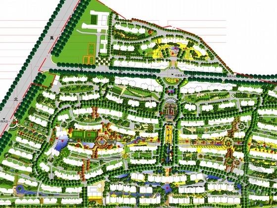 [上海]典型欧式风格居住区景观规划设计方案