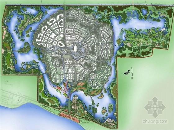[山东]城市生态文化综合性湿地公园景观规划设计方案