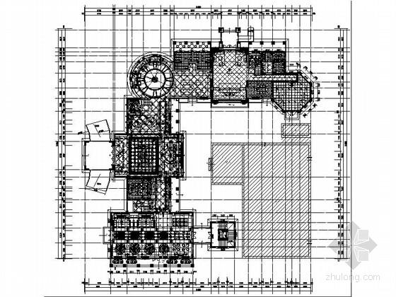 [广东]欧式风格样板房售楼处室内装修CAD施工图(含效果)