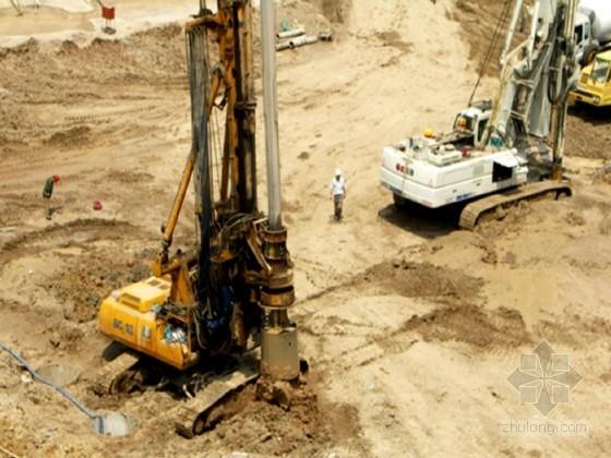 [陕西]基坑排桩锚索支护及土方开挖降水施工组织设计