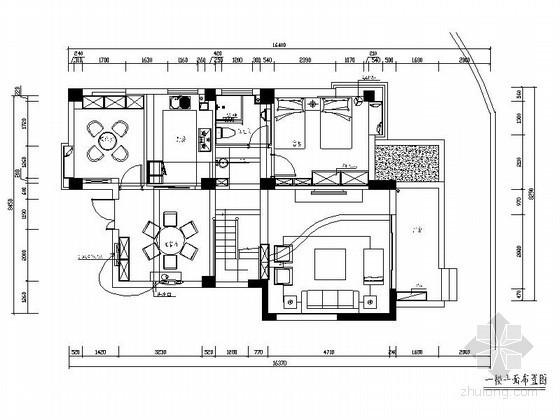 [福州]时尚复式室内装修施工图(含效果)
