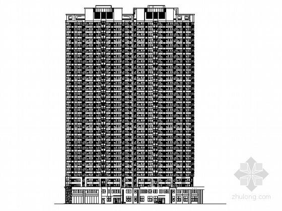 合肥某公寓商业工程1号楼裙楼外立面幕墙装饰工程建施图(含说明)