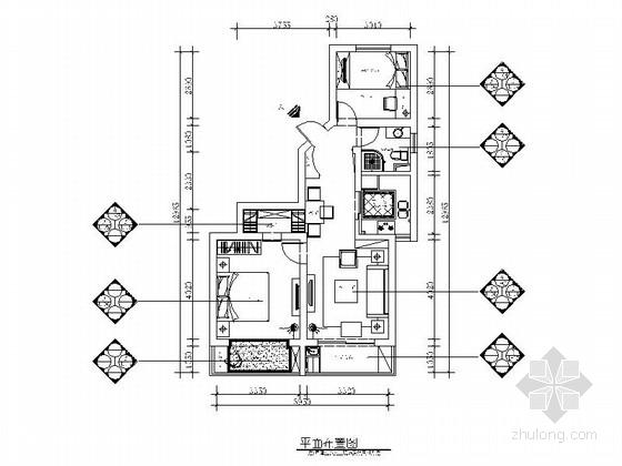 [上海]精品唯美田园乡村风格两居室CAD装修施工图(含效果)