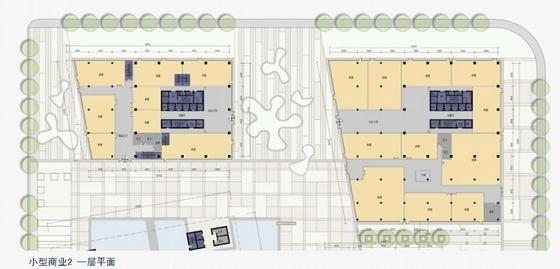 [上海]辐射组合型现代化商业及办公综合体设计方案文本-辐射组合型现代化商业及办公综合体平面图