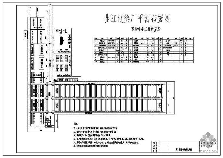 U型桥台锚杆加固资料下载-武广曲江梁场布置图