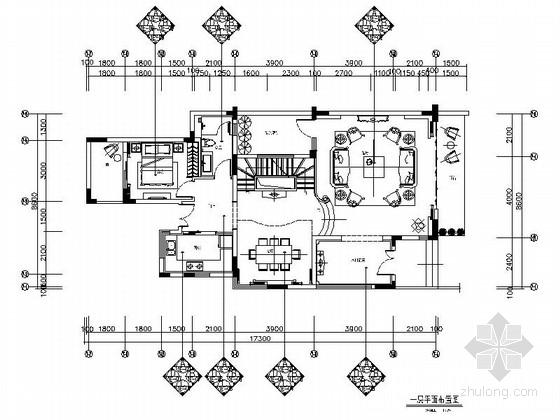 [广州]欧式通透秀气三层别墅室内CAD施工图(含效果图)