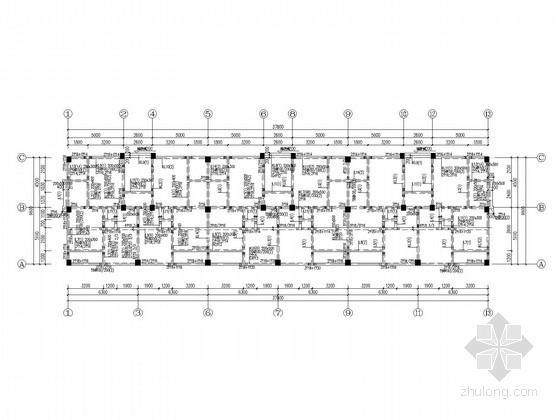 8层框架公寓楼结构施工图(独基、2013.11)