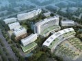 [广西]5层现代化市级综合医院建筑设计方案文本(1600床 曲面造型)
