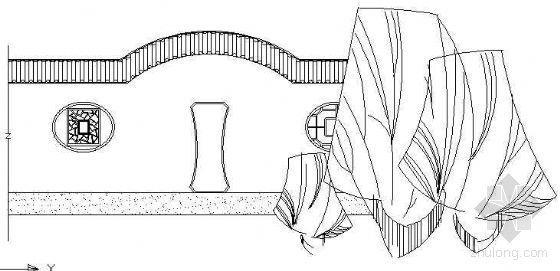 古典景墙立面设计图(四)