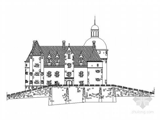 某三层法式别墅建筑扩初图
