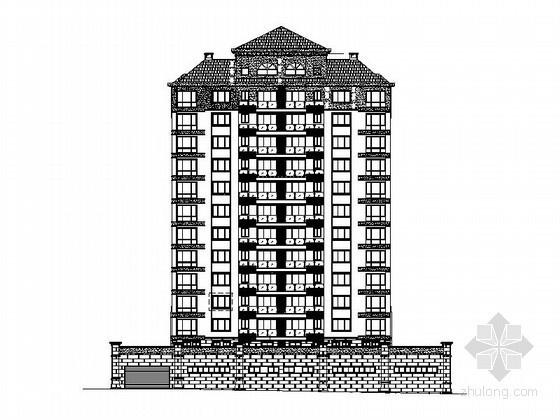 某十一层板式住宅楼建筑施工图(含效果图)