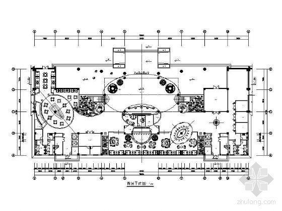 宾馆各层平面设计图