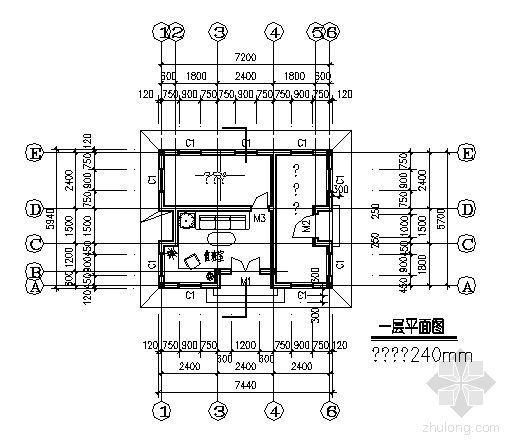 某绿地管理房建筑方案图-3