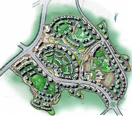 国内各大设计院景观设计公司景观设计总平面图图集