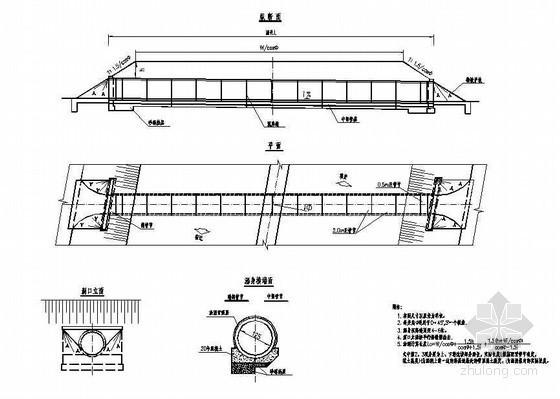 钢筋混凝土圆管涵一般布置节点详图设计