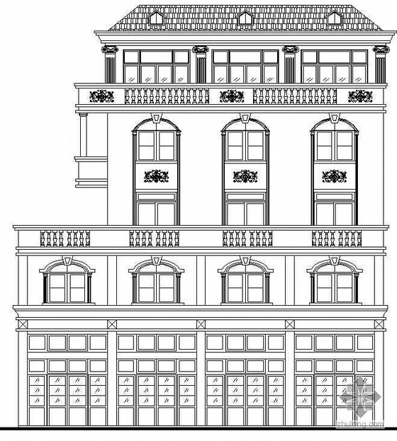 某五层欧式别墅建筑施工图