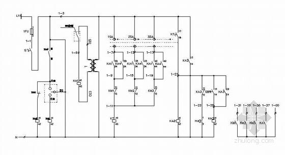 热水循环泵控制原理图(两用一备)