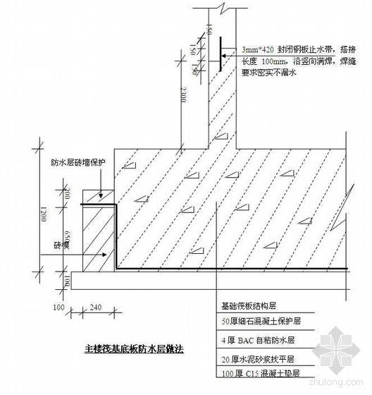 山东省某商务楼工程地下室防水施工方案