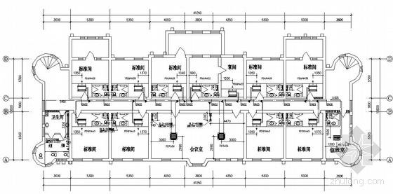 vrv多联机风管资料下载-天津某大学公寓楼空调图