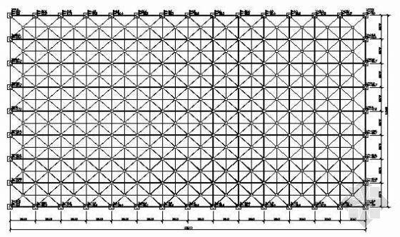 某会议室全套网架结构图纸