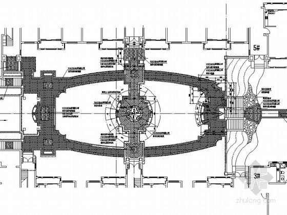 [杭州]生态居住区三区楼间小院景观设计施工图
