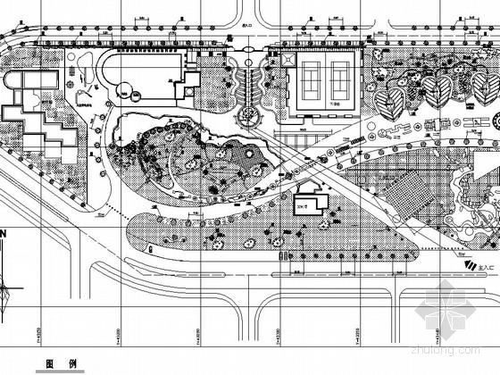 [长沙]城市休闲广场园林景观工程施工图