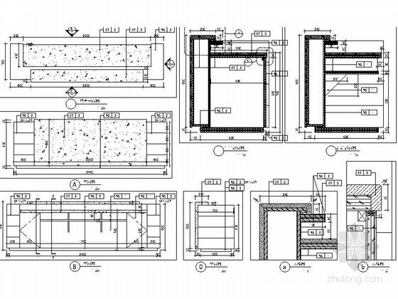 [北京]房山区高档现代销售中心装修施工图大样图