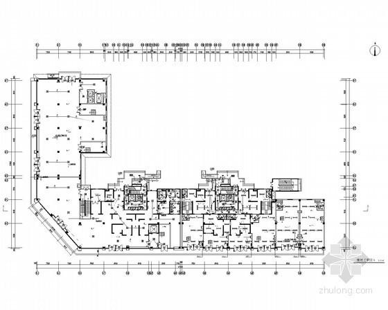 [陕西]一类高层高档住宅带人防电气施工图(甲级院最新设计)