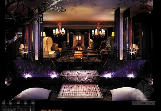 [山西]购物广场中心五星级综合型酒店设计方案红酒防效果图