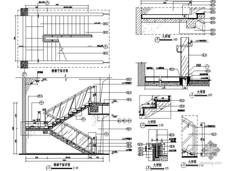 不锈钢扶手楼梯间详图_1
