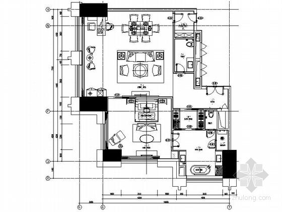 [中山]国际五星级酒店高档客房装修施工图