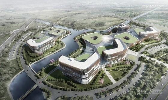 [浙江]现代风格医院概念规划设计方案文本(多方案比对)